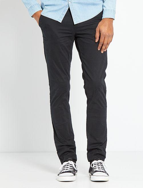Slim-fit broek 'Ecodesign'                                                                                                                                                                                                                             zwart