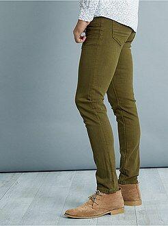 Slimfit 5-pocket broek van stretch katoen