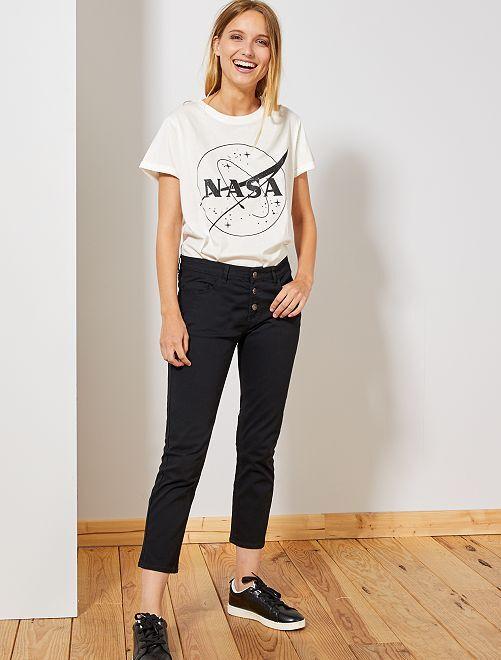 Slimfit 7/8e broek                                                                                                                 zwart Dameskleding