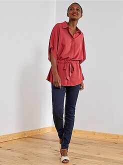 Denim - Slimfit jeans met superhoge taille - Lengte US30