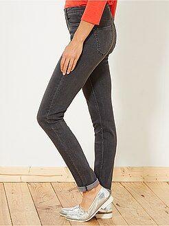 Jeans - Slimfit jeans met superhoge taille - Lengte US32