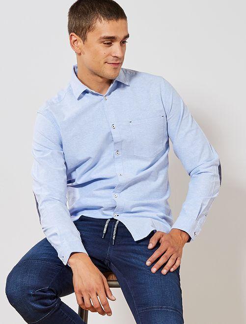 Slimfit overhemd van oxfordkatoen                                                     BLAUW Herenkleding