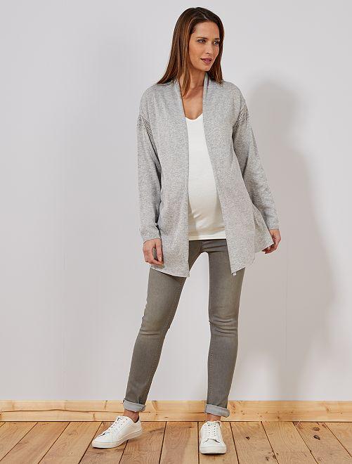 Slimfit stretch jeans                                                                             GRIJS Zwangerschapskleding