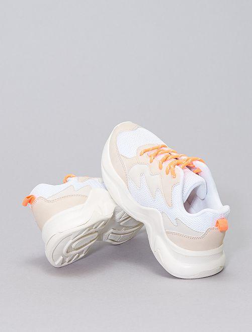 Sneakers met brede zolen                             wit