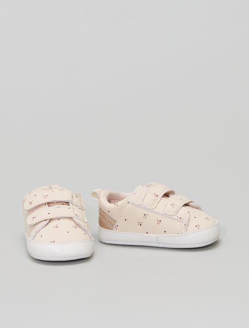 Sneakers met klittenbanden                                         bloem print