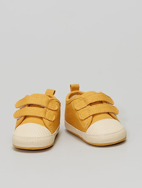 Sneakers met klittenbanden                                         GEEL