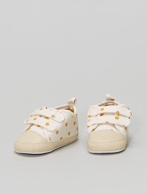 Sneakers met klittenbanden                                         WIT