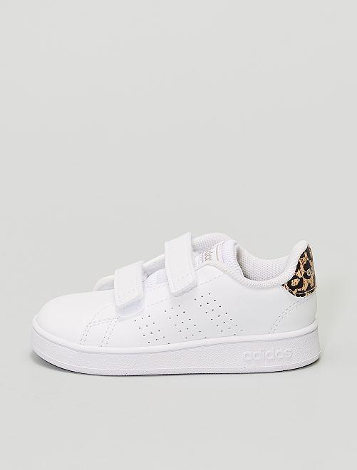 Sneakers met luipaardmotief - Adidas Advantage I                             WIT