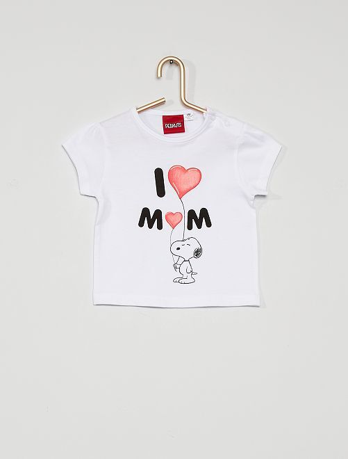 Snoopy-T-shirt                             wit