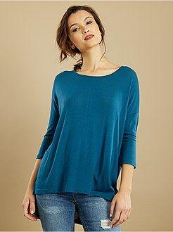 T-shirt - Soepel T-shirt van fijn tricot