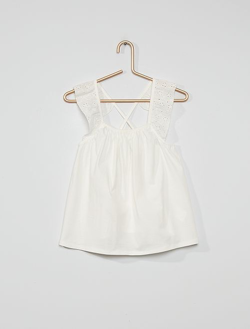Soepelvallende blouse                                                                 sneeuw wit