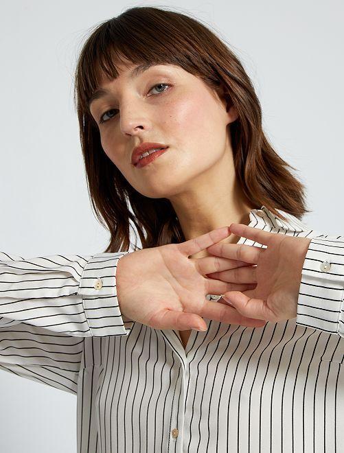 Soepelvallende blouse                                                                 WIT