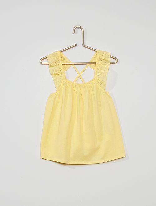 Soepelvallende blouse                                                                 zacht geel