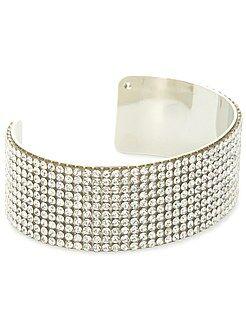 Sieraad - Stijve armband met strass