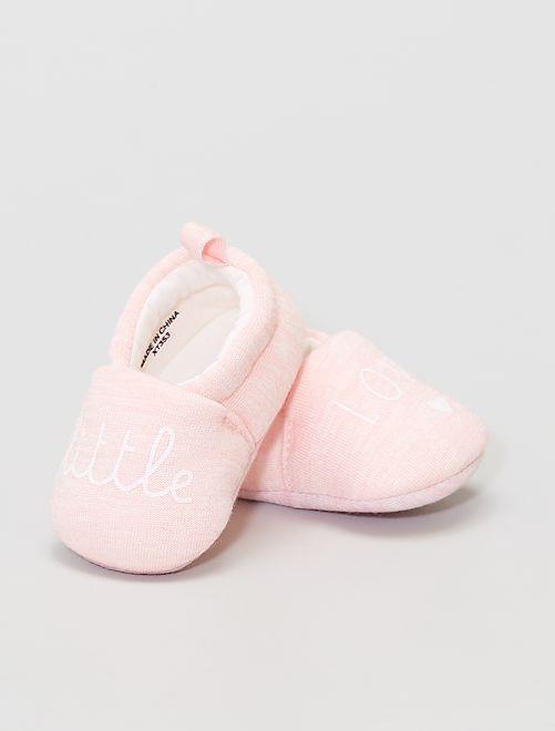 Stoffen babyschoentjes                                         roze
