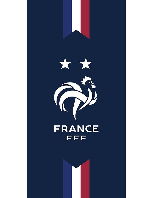 Strandlaken 'Franse voetbalbond'                             BLAUW