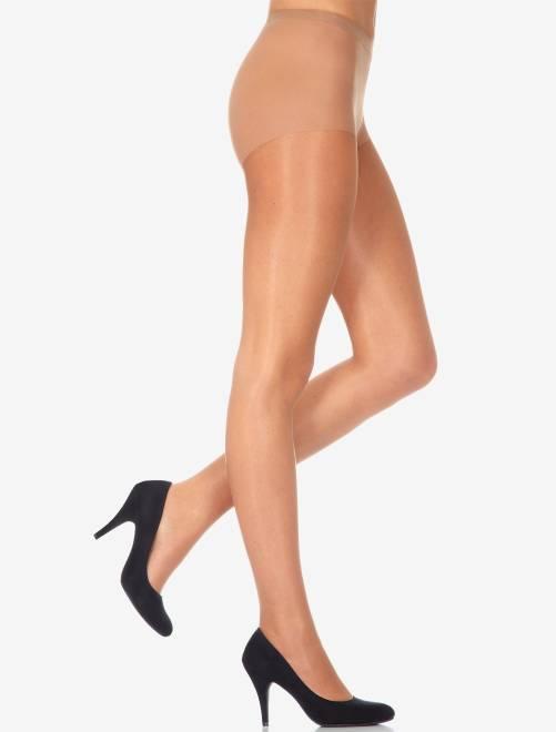 Sublim' panty van het merk 'Dim', 15 D glanzende voile                                                     bruin