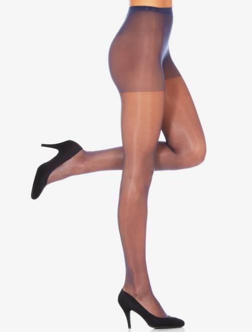 Sublim' panty van het merk 'Dim', 15 D glanzende voile                                                     marineblauw
