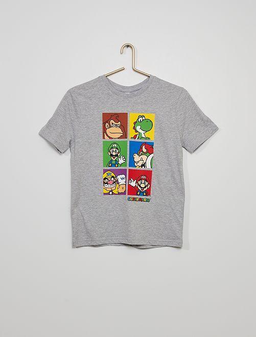 Super Mario-T-shirt                             grijs gemêleerd