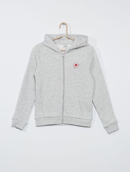 Sweater met capuchon 'Ecodesign'                                         GRIJS