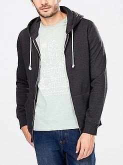Sweaters - Sweater met een ritssluiting en capuchon