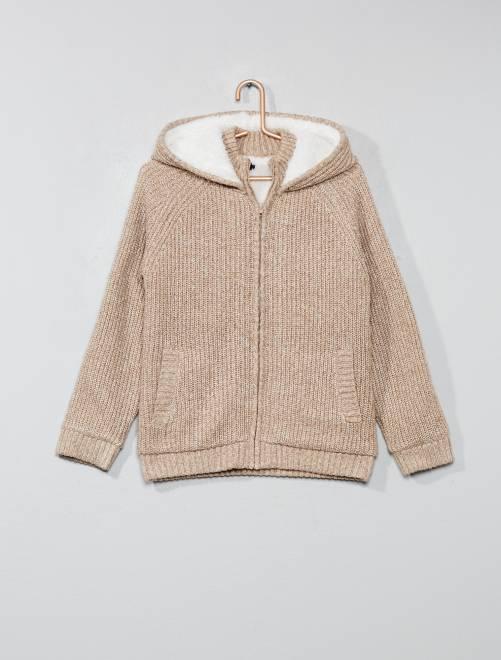 Kinderkleding Jongens.Sweater Met Een Warme Voering Kinderkleding Jongens Kaki Kiabi