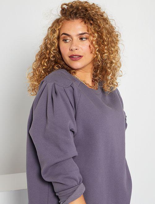 Sweater met geplooide schouders en uitsnijdingen                                                                 donkerblauw