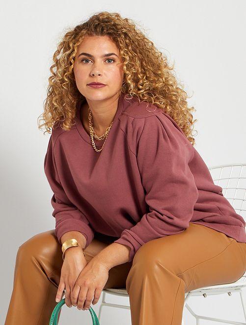 Sweater met geplooide schouders en uitsnijdingen                                                                 ROSE