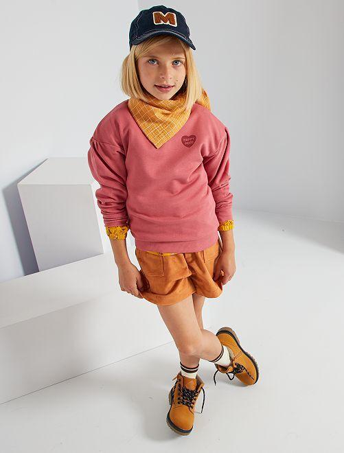 Sweater met hartjesprint                                                                                                     ROSE
