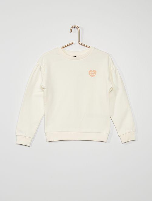 Sweater met hartjesprint                                                                                                     WIT