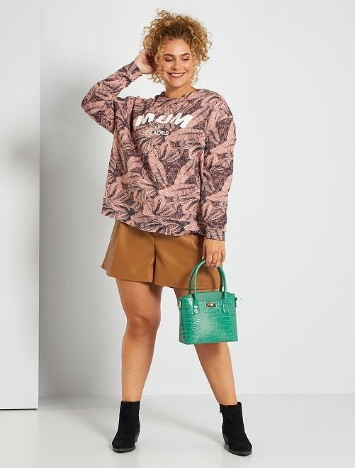 Sweater met opdruk 'Mum of the world'                                         ROSE
