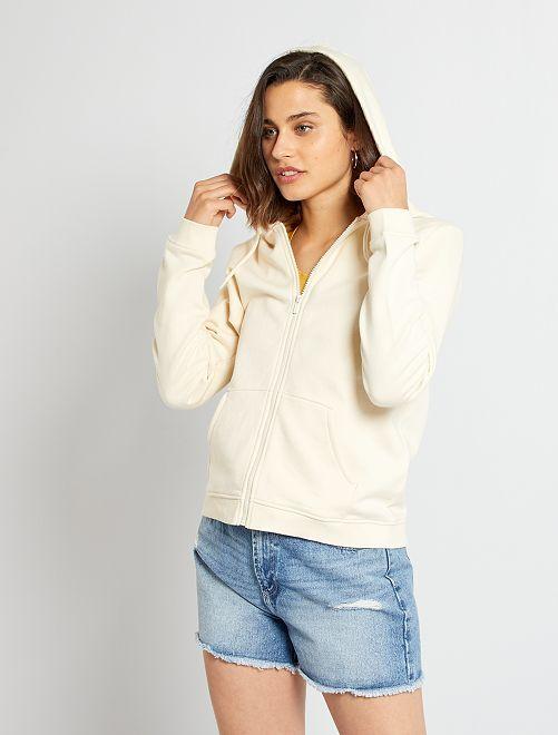 Sweater met rits                                                                                 BIEGE