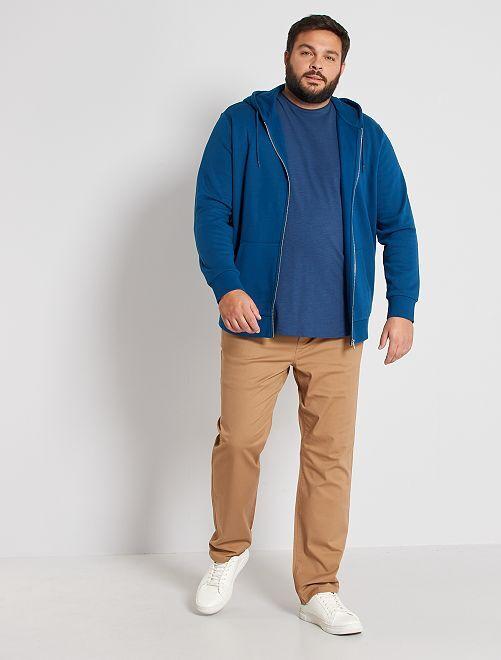 Sweater met rits 'Ecodesign'                                                     blauw poseidon