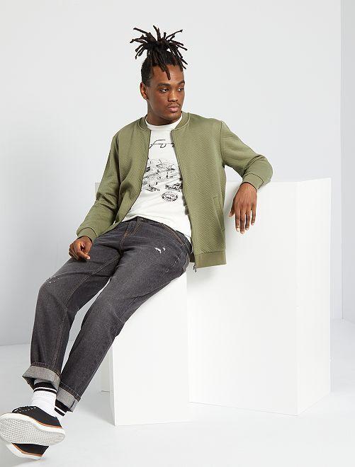 Sweater met rits in bomberstijl                             groen
