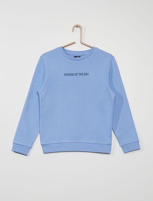 Sweater van geruwd molton #moodoftheday                                                                                         BLAUW