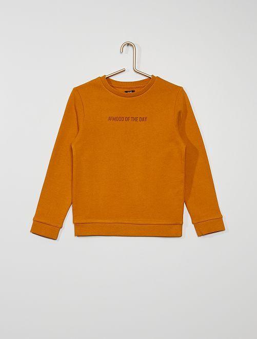 Sweater van geruwd molton #moodoftheday                                                                                         GEEL