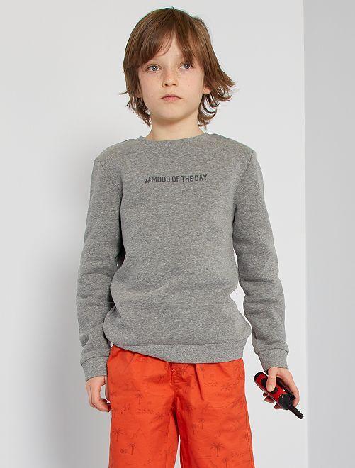 Sweater van geruwd molton #moodoftheday                                                                                         GRIJS