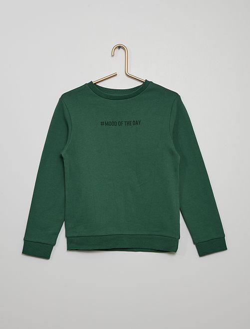 Sweater van geruwd molton #moodoftheday                                                                                         GROEN