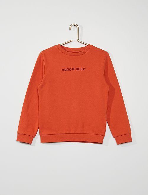 Sweater van geruwd molton #moodoftheday                                                                                         ROOD