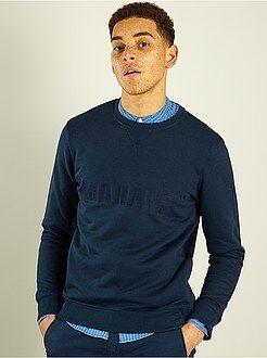 Sweater van joggingstof met geborduurde print - Kiabi
