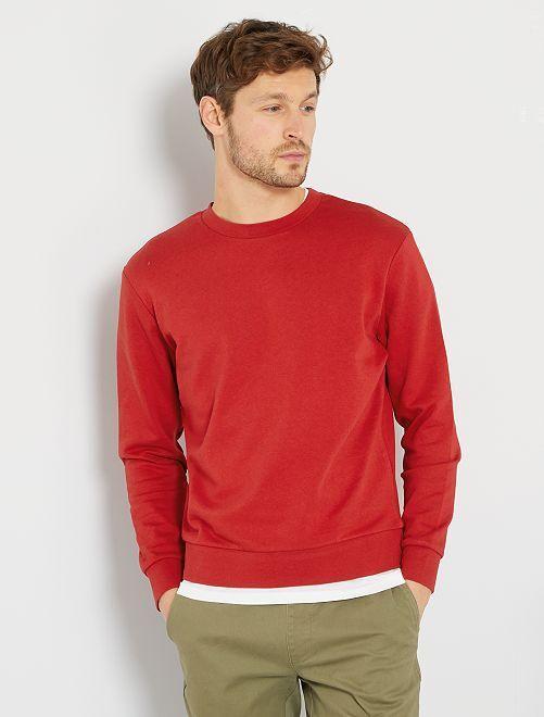 Sweater van molton 'Ecodesign'                                                     rood
