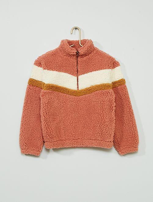 Sweater van sherpa                                         ROSE