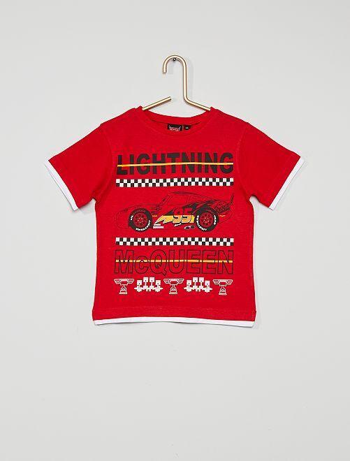 T-shirt 'Cars'                                         rood