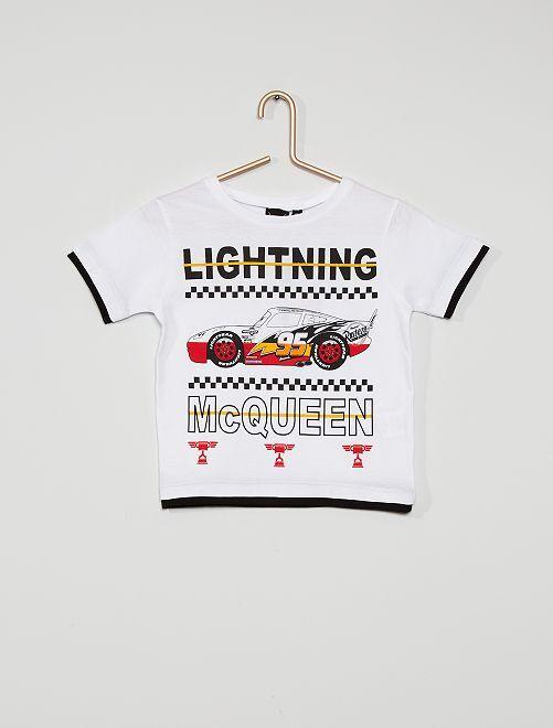 T-shirt 'Cars'                                         wit