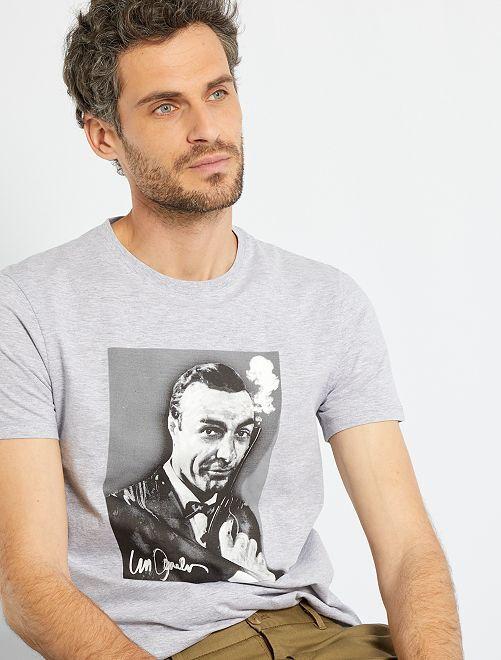 T-shirt 'James Bond'                             GRIJS