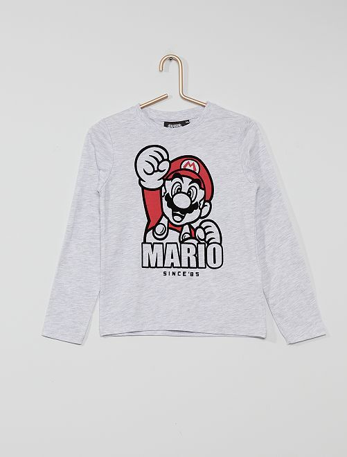 T-shirt 'Mario Kart'                             GRIJS