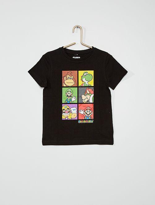 T-shirt 'Mario' 'Nintendo'                                         zwart