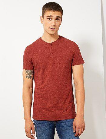 Effen Rood Overhemd Heren.Goedkoop Basic T Shirt Heren Met Lange Of Korte Mouwen Mode Kiabi