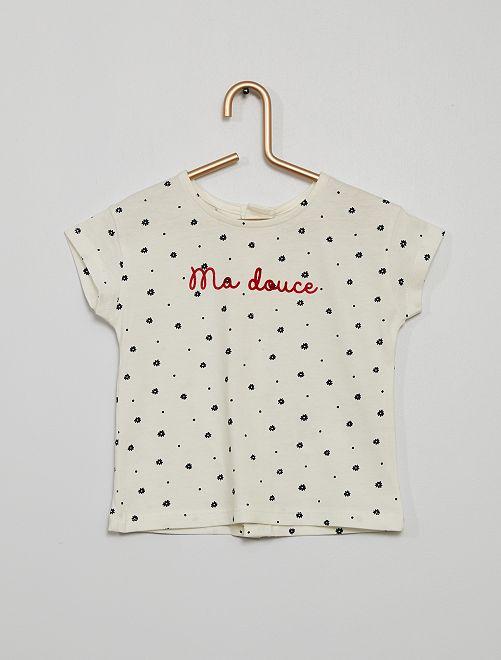 T-shirt met print                                         BLAUW bloem