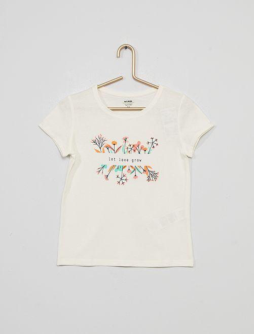 T-shirt met print 'Ecodesign'                                                                                                                                         BIEGE